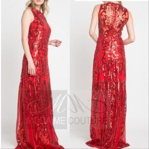 MODA ME COUTURE Dresses - GLAM DOLLZ Red Sequin Maxi Dress